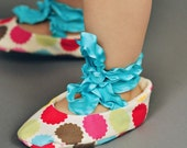 Size 24-30 Months - Ballet Baby Booties Rainbow Dots