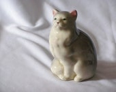 Large Persian Cat Collectible Porcelain Figurine