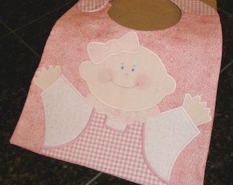 Handmade Baby Bib - Little Sweetheart, Perfect for Baby Girl or Baby Shower Gift