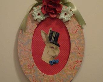 Handmade Harold Bunny Vignette - Decoration, Easter Decoration