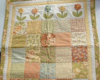 Handmade Quilt Wallhanging - Dandelion Girl
