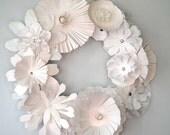 Paper Floral Wreath-Winter Wonderland RESERVED FOR MELISSA