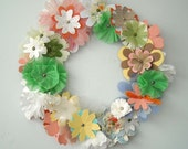 Spring Paper Floral Wreath-Blossom