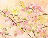 cherry blossom birdies butter cream large