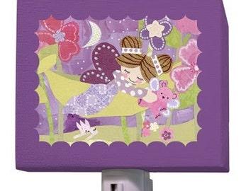 brunette fairy night light