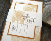 SAMPLE - Sunflower with Bellyband Invitation