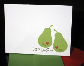 The Perfect Pear Stationery Set (20) plus Matching Address Labels