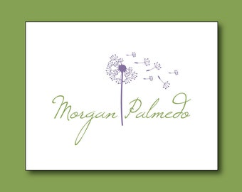 NEW Dandelion Personalized Stationery Set (20) plus Matching Address Labels