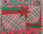 Season's Greetings Two Page 12 x 12 Premade Scrapbook Layout