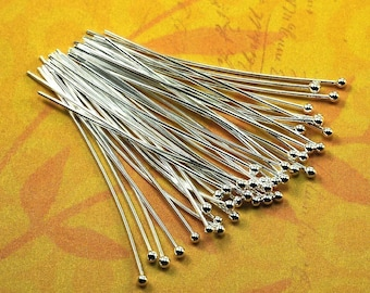 40 Fine Silver Headpins - 22 gauge - 1.5 inches long