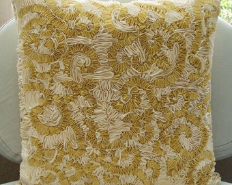 Magnificent Awe - Euro Sham Covers - 26x26 Inches Pillow Cover with Ribbon Embroidery