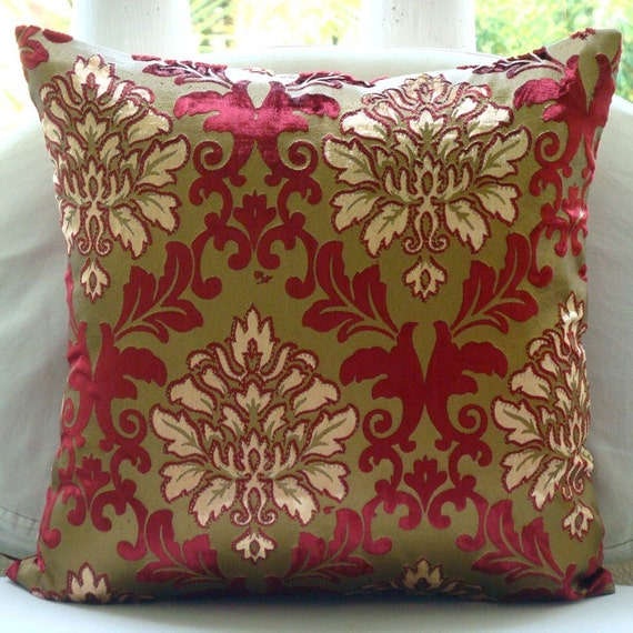 Royal Damask Throw Pillow Covers 16x16 Inches Velvet
