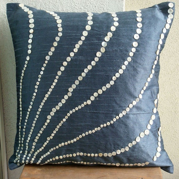 Throw Pillow Covers 20x20 : Blue Moon Throw Pillow Covers 20X20 Inches Silk Pillow