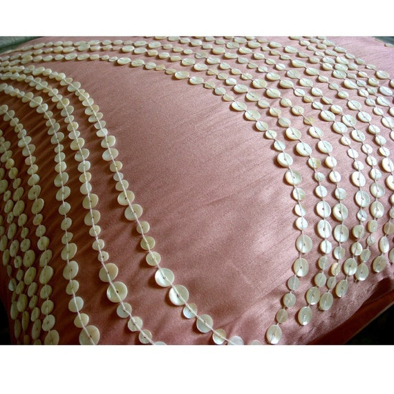 Decorative Pillow With Pearls : thehomecentric - Luxury Pink Decorative Pillows Cover, 16