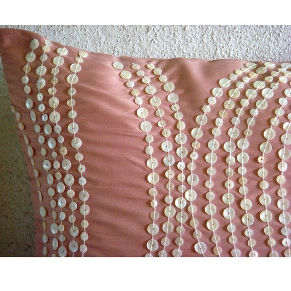 Luxury Silk Throw Pillows : thehomecentric - Luxury Pink Decorative Pillows Cover, 16
