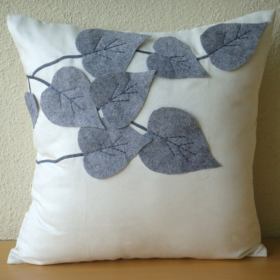 Throw Pillow Covers 20x20 : Winter Leaves Throw Pillow Covers 20x20 Inches Suede