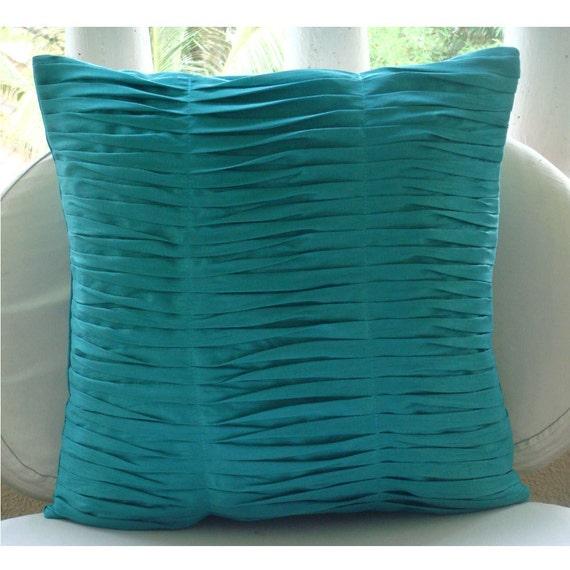 Decorative Euro Sham Covers Couch Pillow Toss Pillow Sofa Pillow 26 Inch Silk Sham Cover Pintucks Gentle Waves Home Living Decor Housewares