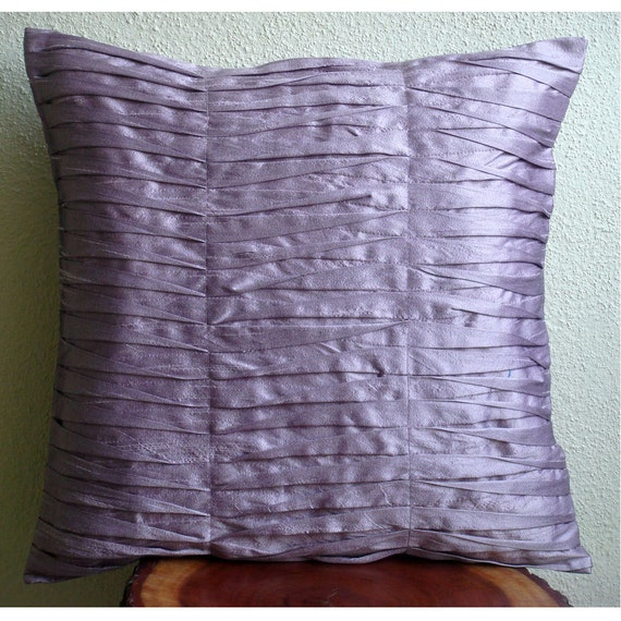 Decorative Throw Pillow Covers Couch Pillow Case Sofa Bed Pillows 16x16 Inch Purple Silk Pillow Cover Home Living Decor Light Purple Waves