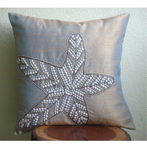 starfish sparkle throw pillow covers 18x18