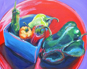 Salsa 6 original acrylic still life food painting