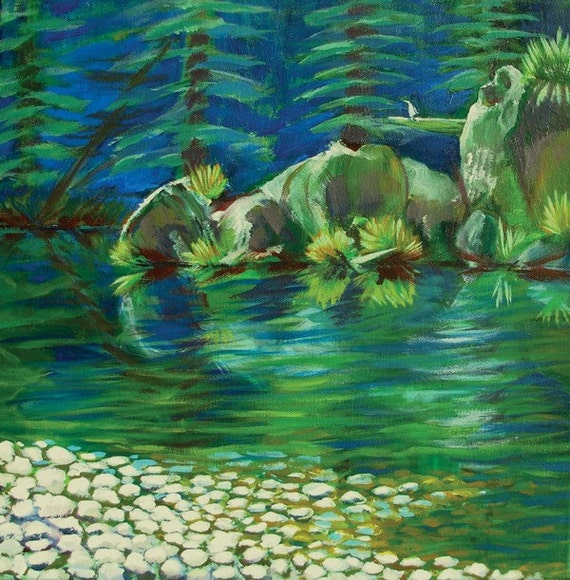 Smith River 2 original landscape acrylic painting