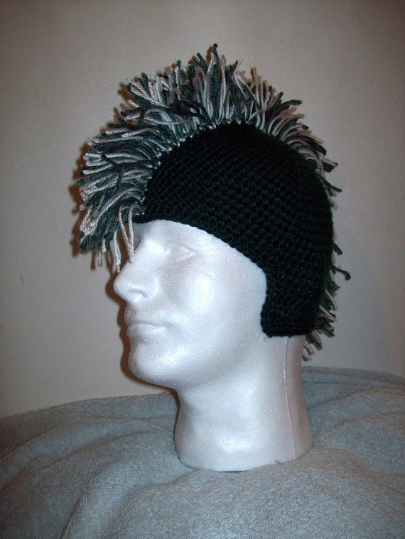 Items similar to Crochet Mohawk Hat Pattern on Etsy