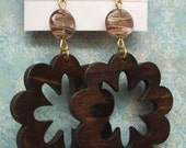Dark Brown Flower Dangle