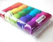 Rainbow Feltmaking Mix - A colourful assortment of merino tops\/roving for felting\/spinning\/craft kit.