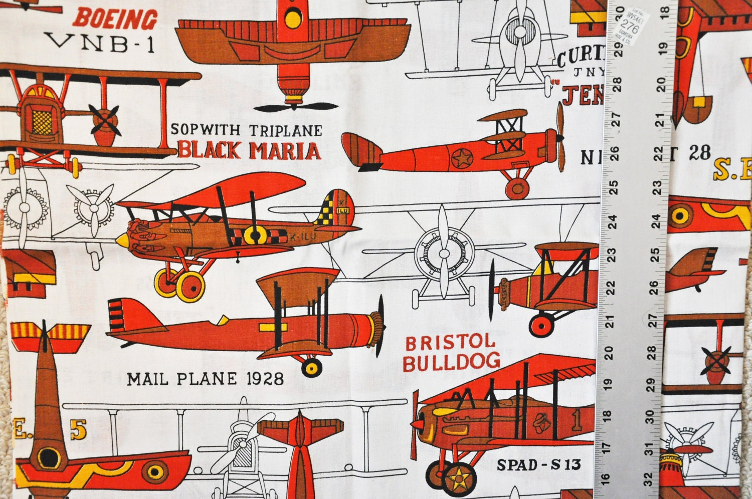 1 yard airplane themed fabric for Airplane fabric by the yard
