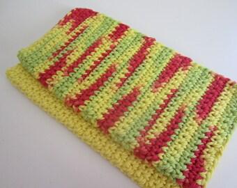 Two Hand Crocheted Dishcloths