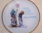 Vintage .. Holly Hobbie Plate.. Happy Birthday .. Wall Art