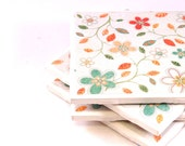 Coasters - A Bit Leafy - Set of 4 Ceramic Tile Coasters