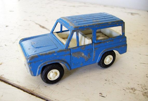 Tootsie Toy Bronco 1970, With Chippy Blue Paint