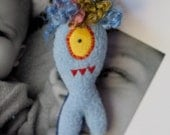 Cyclops Stuffed Monster Magnet in Blue