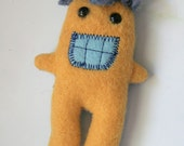 Stuffed Monster Magnet in Yellow