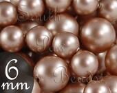 Swarovski pearls, 6mm Powder Almond, Style 5810, Qty 25