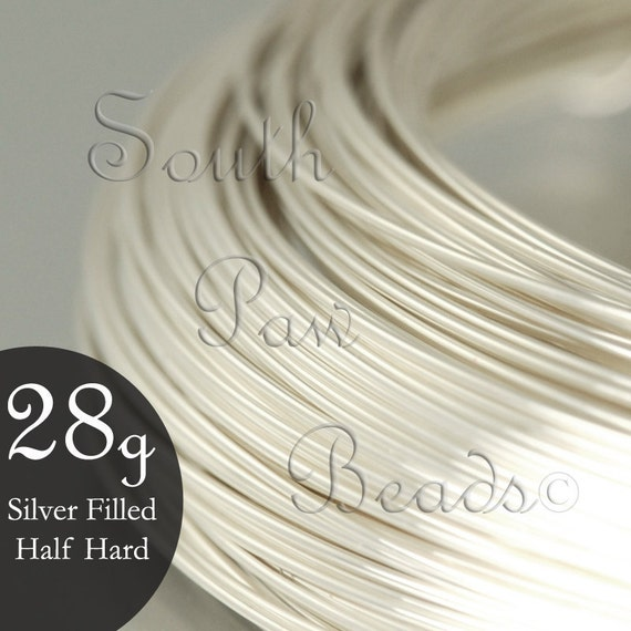 50% Off - Silver Filled Wire Round Half Hard 28 gauge, 1 troy oz (approximately 155.8 ft) 1/10 sterling
