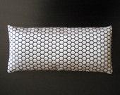 Silver Hexagon Silk Yoga Eye Pillow