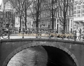 SALE Amsterdam Canal Scene - Signed 20 x 30 Fine Art Photograph Poster with FREE Shipping by IlluminatedLuna on Etsy