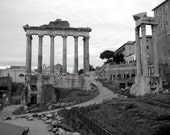 SALE Roman Forum - Signed 8 x 10 Black and White Fine Art Travel Photograph, Rome, Italy by IlluminatedLuna on Etsy