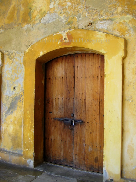 SALE Old Door in San Juan - Signed 8 x 10 Fine Art Travel Photograph from Caribbean Island of Puerto Rico by IlluminatedLuna on Etsy