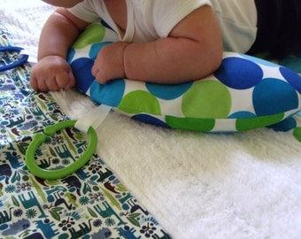 Organic Tummy Time Pillow, Disco Dots