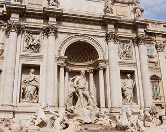 Trevi Fountain, Rome, 8 x 10 Photo Art Print, FREE Matting