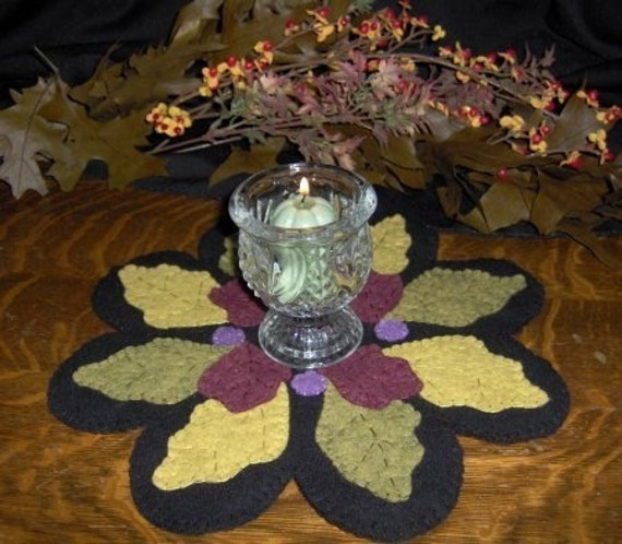 Items Similar To The Colors Of Fall Penny Rug Candle Mat