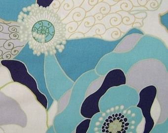 Alexander Henry Fashionista Collection - Blakely in Pool Blue ( AH8068B) 1 Yard
