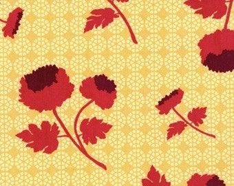 Joel Dewberry - Home Decor Fabric - Ginseng - Tossed Flowers HDJD10 Camel- 1/2 yard