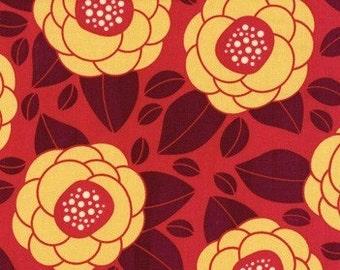 SALE Joel Dewberry - Home Decor Fabric - Ginseng - Bloom HDJD02 Raspberry- 1 yard