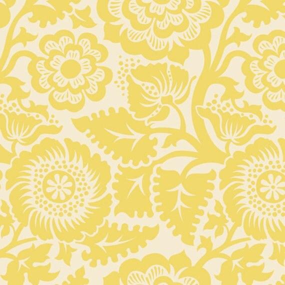 Custom order for RedEyedStudio: Joel Dewberry Heirloom JD48 Blockprint Blossom-Dandelion, 4 yards