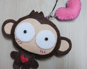 YOYO Monkey Plush Keychain