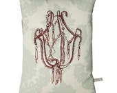 Mothers day pillow decayed glamour chandellier pillow/cushion